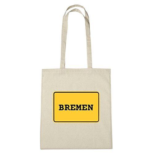 JOllify BREMEN Umwelttasche Jutetasche B6042jute - Farbe: natur: Ortsschild