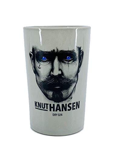Knut Hansen Gin Pot Pötte Gin & Tonic Glas Keramikglas Steingut Becher Keramikbecher handgeschliffen 1 STK.