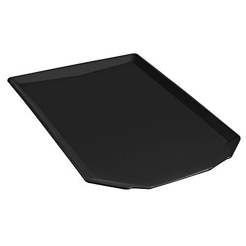 iPEGTOP Universal Dish Drainer Drain Board for Kitchen Sink Dish Drying Rack Basket Large, Black