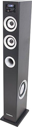 Madison MAD-CENTER100BK - Barra de sonido (100 W, Bluetooth, amplificada, sintonizador FM), color negro