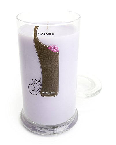 Pure English Lavender Candle - Large Purple 16.5 Oz. Highly Scented Jar Candle - Made with Essential & Natural Oils - Flower & Floral Collection