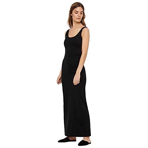 Vero Moda Vmnanna SL Ancle Dress Ga Vestido, Negro (Black Black), Large para Mujer