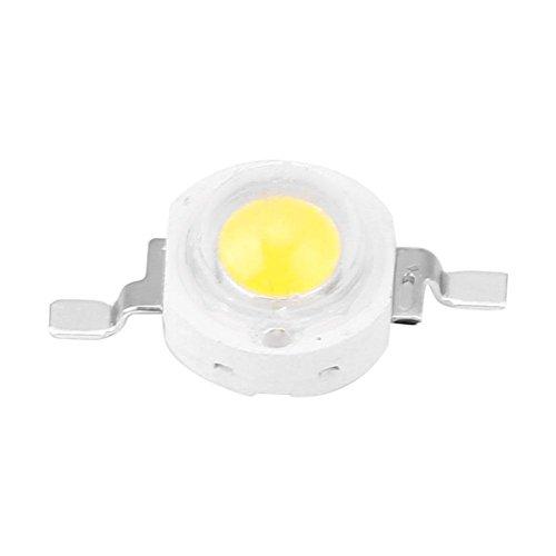 100 Stücke High Power Led Chip 1 Watt Super Helle Intensität SMD Light Emitter Komponenten Diode Lampe Lampe Perlen Chip DIY Leuchten für Flutlicht Scheinwerfer(White 6000k)