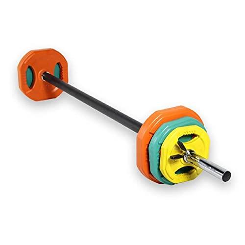 Set Body Pump Completo, Barra 140cm + 2 Discos 1,25Kg + 2Discos 2,5Kg + 2 Discos 5Kg 2 topes, Entramiento en Casa, Gimnasio, Fitness, Barra de Pump, Body Pump Kit ⭐
