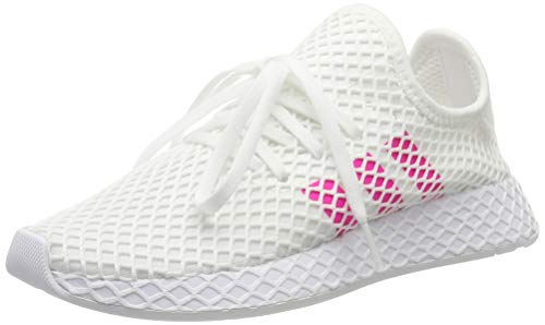 adidas Kids Deerupt Runner Sneakers, White, 38 2/3 EU