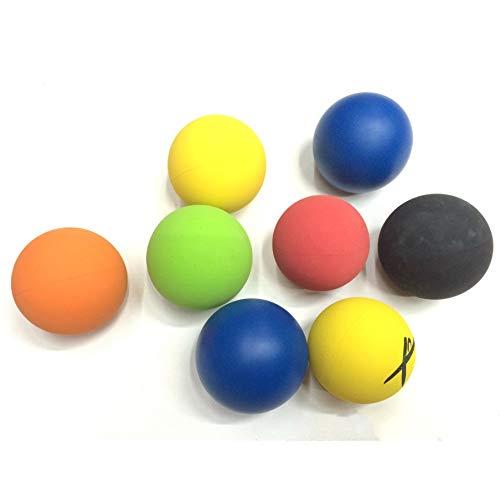 Pelota de squash Pelotas de puntos azules de 6 cm Pelota de squash estándar estadounidense Pelota hueca de goma, alto espesor de pared Accesorios de competencia de rebote Velocidad media
