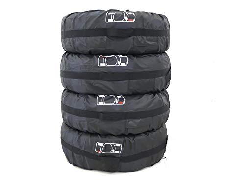 Juego de 4 fundas de neumáticos UCARE para neumáticos de protección solar y a prueba de polvo, bolsas de almacenamiento para neumáticos de rueda para cubierta de neumáticos, apto para coche, SUV