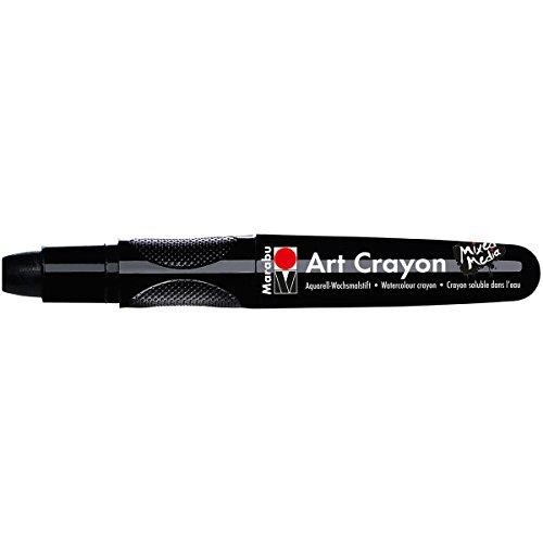 Marabu 01409003073 Creative Art Crayons, Black
