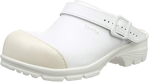 Sanita Workwear Unisex San-Duty Open-SB Clogs, Weiß (White 1), 45 EU