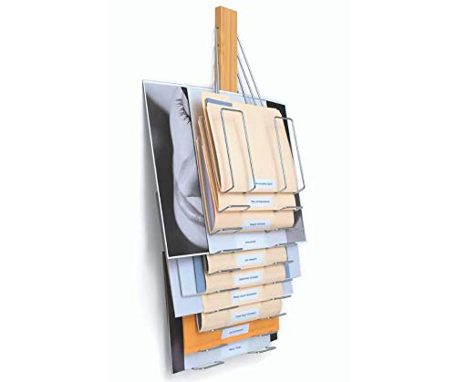 Up Filer, Hanging Wall File Organizer, 10 Hangers/Pockets. Store & Organize Letter, Legal, Oversized Files and documents All Together in one System (Light Caramel Bamboo).