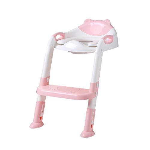 XIAOZHENT Vasino per Bambini Poltrona per Il Bagno per Bambini Scaletta Regolabile Pieghevole Pieghevole Pieghevole Toilette Seduta per Bambini Portatile Urinale (Color : 01)