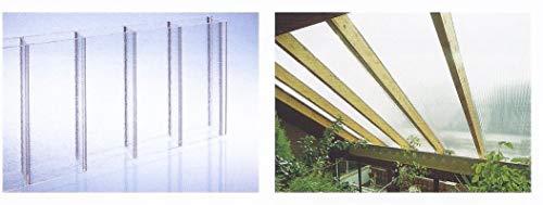 Acryl Doppelstegplatten 16 mm - C-Struktur klar - NO DRIP - Zweifachsteg - Breite: 1200 mm (Euro 44,90/qm)