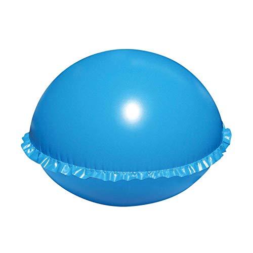 Juhuitong Schwimmbad Startseite Luftkissen Tragbares Aufblasbares Multifunktions-langlebiges Schwimmendes PVC Winter Spa Square Verhindern Sie Das Ausbleichen des Poolkissens Blau Runden (1 Packung)