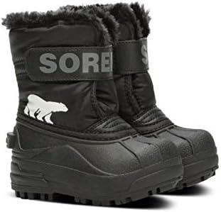 Sorel Toddler Snow Commander, Botas de Invierno Unisex bebé, Negro (Black, Charcoal), 22 EU