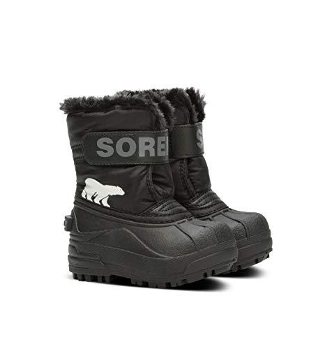 Sorel Unisex-Kinder-Winterstiefel, TODDLER SNOW COMMANDER, Schwarz (Black/Charcoal), Größe: 22