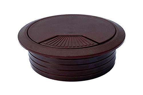 Mprofi MT KSM/80/2 - Pasacables de plástico (80 mm de diámetro, redondo), color marrón