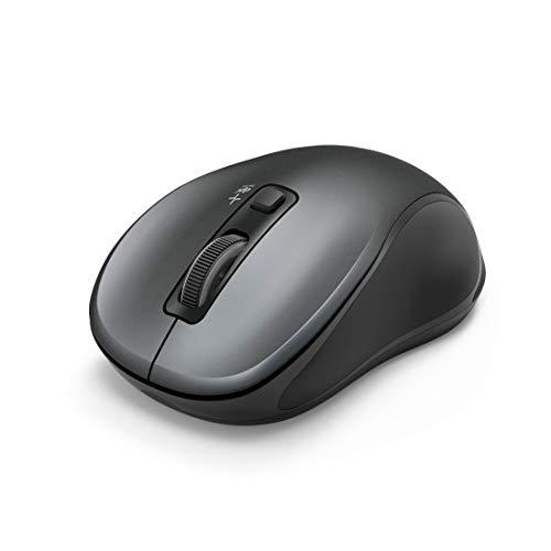 "Hama Flüsterleise Bluetooth Maus, beidhändig bedienbar ""Canosa"" (kabellose, optische Computer-Maus für Rechts-/Linkshänder, ohne Klickgeräusche, max. 1600 DPI, Mac/PC/Android) Wireless Mouse grau"