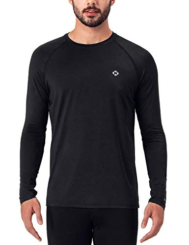 NAVISKIN Men's Quick Dry Running Workout Long Sleeve Shirts