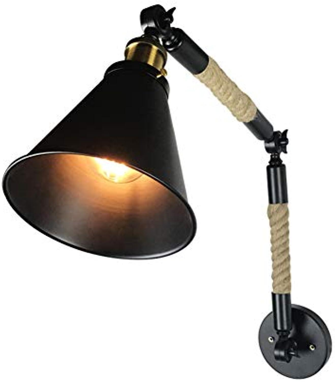 YHSGD Retro Wall Lights Retractable Faltschaufel Doppel-Dekoratives Licht für Wohnzimmerbeleuchtung
