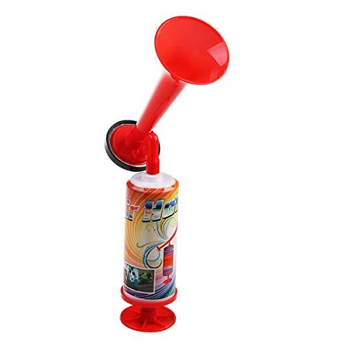 GARNECK Bocina para Fanáticos del Balón de Fútbol Porristas Accesorios para Clubes de Reuniones Deportivas Trompeta Ajustable Empuje Manual Bomba de Gas Bocina de Aire