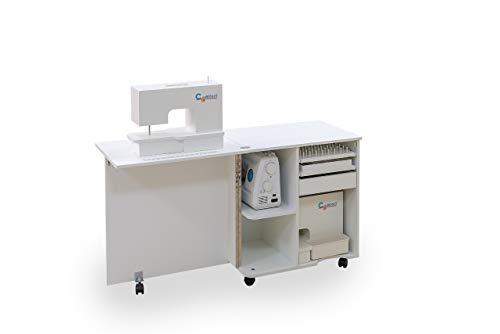 Comfort COMPACT | Mueble para máquina de coser | Armario de costura | (Beech Ellmau)