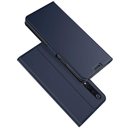 XINKO Xiaomi Mi 9 SE Wallet Tasche Hülle - [Ultra Slim][Card Slot][Eingebauter Magnet] Flip Wallet Hülle Etui für Xiaomi Mi 9 SE - blau