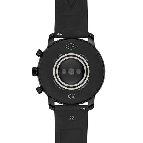 Fossil Men's Gen 4 Explorist HR Heart Rate Stainless Steel and Silicone Touchscreen Smartwatch, Color: Smooth Black (Model: BQD1000) 6