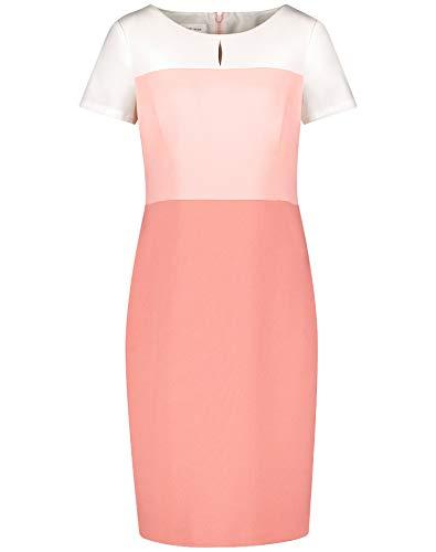 Gerry Weber Damen Kleid Mit Farbverlauf Figurumspielend, Tailliert Pastel Rose Offwhite Patch 36