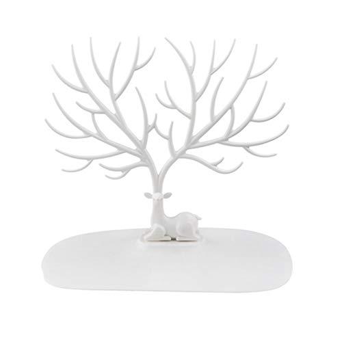loinhgeo Árbol de Ciervo joyero Expositor Pendientes Collar Pulsera Anillo Organizador pequeño Cuernos árbol Joyas Caja de Almacenamiento