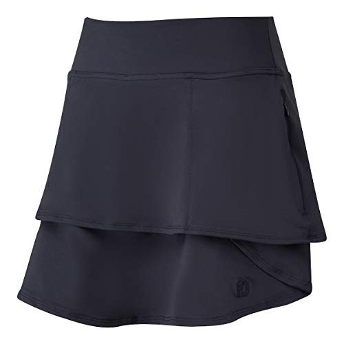 Footjoy Women's Lt WT Jersey Knit Layered Skort Pantalones Cortos, Mujer, Azul Navy, L