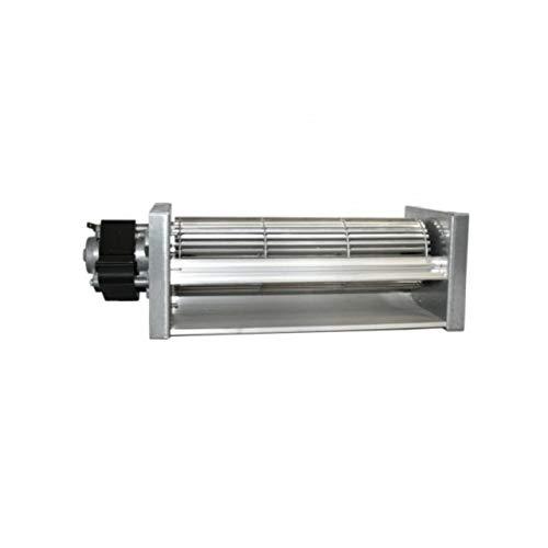 Xodo Store Ventola tangenziale Doppia velocità Lunghezza Totale 390 mm, Dimensioni Bocchetta 280x44 mm, per Stufa a Pellet Cadel