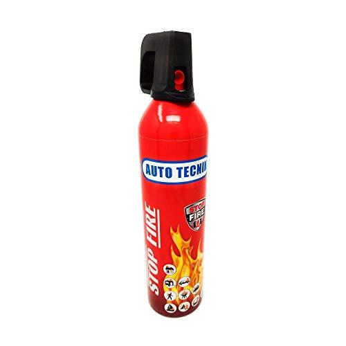 Mini estintore (750 ml) STOP FIRE. Estintore per casa, auto, officina, ufficio, roulotte, giardino, ecc. NON è tossico o irritante. Facile da pulire. Non sono necessarie revisioni