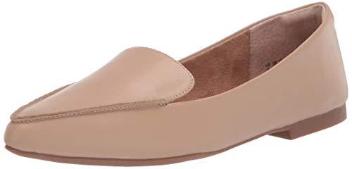 Amazon Essentials Women's Loafer Flat, Beige, 8 B US