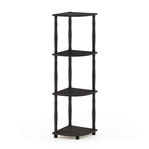 Furinno Turn-N 4-Tier Multipurpose Corner Display Rack with...