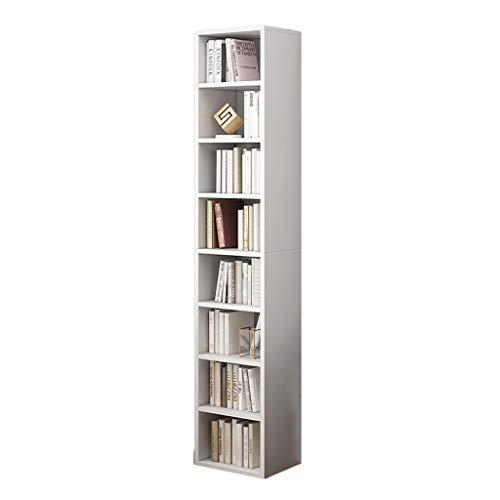 GWXJZ CD opslag plank DVD wit cd kast DVD Record kast staande CD Rack 5/7/8 laden, collectie kast Disc houder CD opslag plank multifunctionele boekenplank (maat: 33 * 30 * 180cm)
