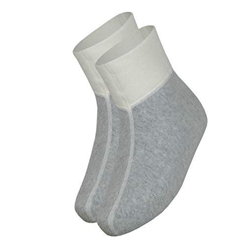 Angora wobera Fußwärmer oder Bettschuhe (Gr. 2 (38-42), Farbe: Silbergrau)