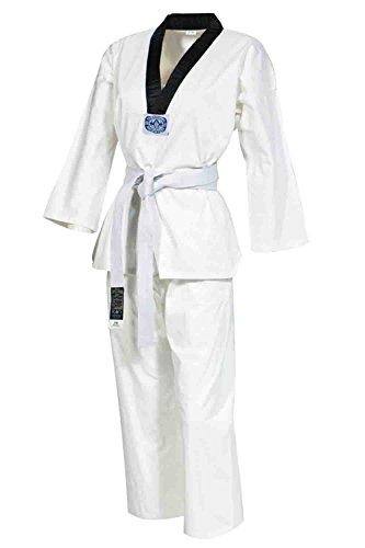 GIMER Taekwondo Completo, Hombre, Taekwondo, Blanco/Negro, S