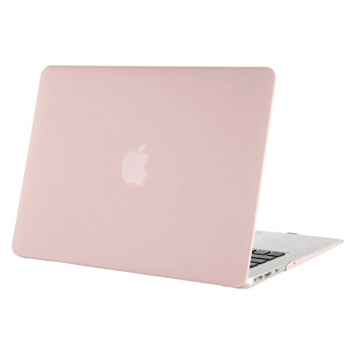 MOSISO Ultra Slim Plastic Hard Shell Snap On Case Cover Compatible with MacBook Air 11 Inch (A1370 & A1465), Rose quartz (Baby Pink)