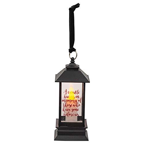 Memorial Candle Black LED 5 Inch Acrylic Decorative Lantern
