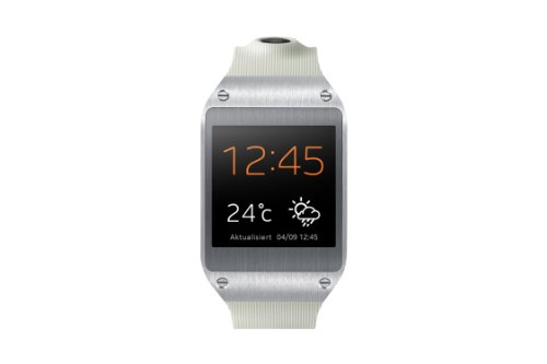 Samsung Galaxy Gear V700 Smartwatch (4,14 cm (1,63 Zoll) SAMOLED-Display, 800 MHz, 512MB RAM, Android 4.3) beige