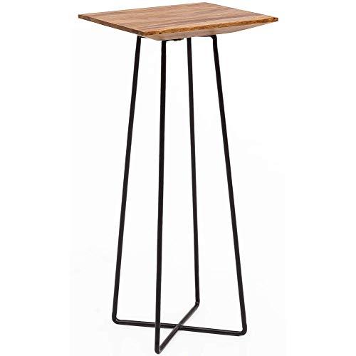 Wohnling WL5.656 bijzettafel, hout en metaal, bruin, 35 x 80 x 35 cm