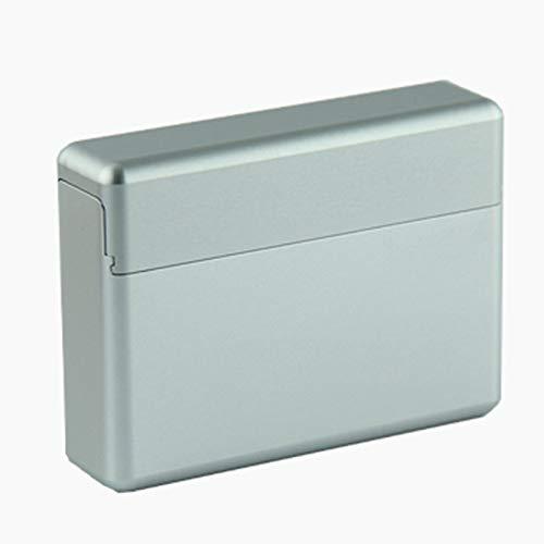 YYFF Caja de Cigarrillos Máquina de un Cuerpo Caja de Cigarrillos de Metal Caja de Almacenamiento de aleación Ligera Una Capacidad para 18 Cigarrillos