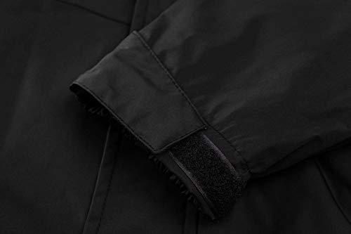 TACVASEN Women's Lightweight Waterproof Softshell Jacket Raincoat with Detachable Hood 5