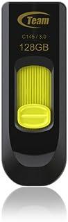 Team Group C145 128 GB USB 3.0 Flash Memory Drive - Yellow