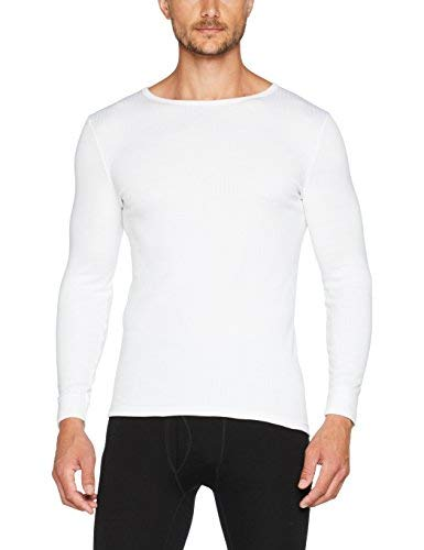Damart Tee-shirt manches longues Thermolactyl Haut thermique Homme Blanc (Blanc) Small (Taille fabricant: S)