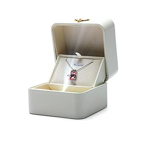 Caja de Regalo Creativa Lámpara Luminosa LED Caja de Anillo de propuesta Caja de joyería Colgante de Anillo Individual Caja de Regalo Asistente de propuesta de Hombre