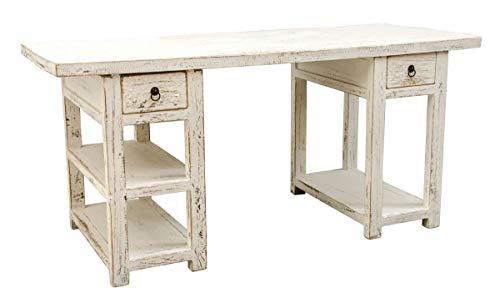 Preisvergleich Produktbild Casa Padrino Landhausstil Schreibtisch Antik Weiß 170 x 70 x H. 80 cm - Büromöbel im Landhausstil