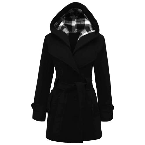 e59d256a0fe2 Candy Floss LADIES HOODED BELTED FLEECE JACKET WOMENS COAT TOP PLUS SIZES 8  TO 26