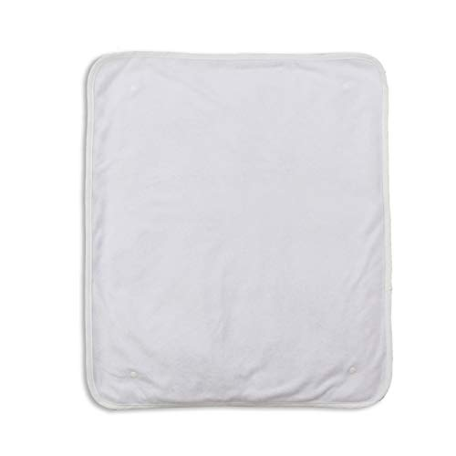 Puckdaddy Ersatz-Frotteebezüge für Wickelauflage mit Kunststoff-Druckknöpfen im 2er-Set, 49x60 cm, weiß