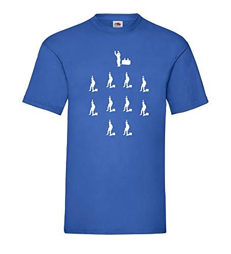 TIPP Kick Aufstellung Männer T-Shirt Royal Blau 3XL - shirt84.de
